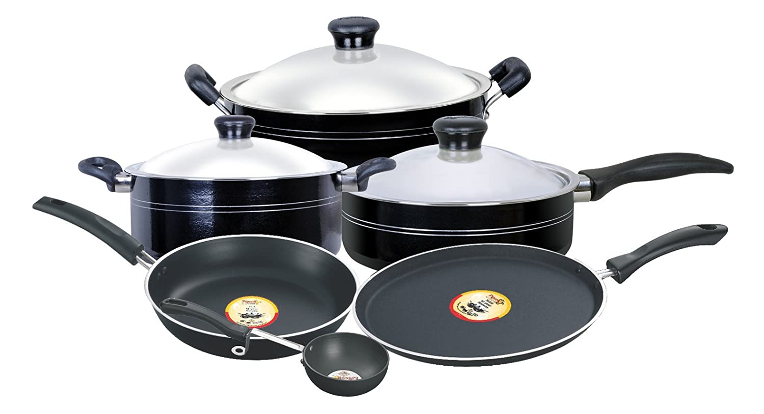 Pigeon Navratna Non-Stick Gift Set, 9 Pieces