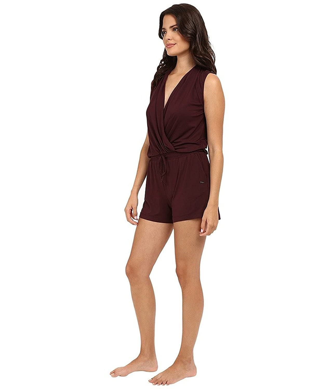 7ade19ab724f UGG Women s Kami Lounge Romper Black Cherry Jumpsuit  Amazon.co.uk  Clothing