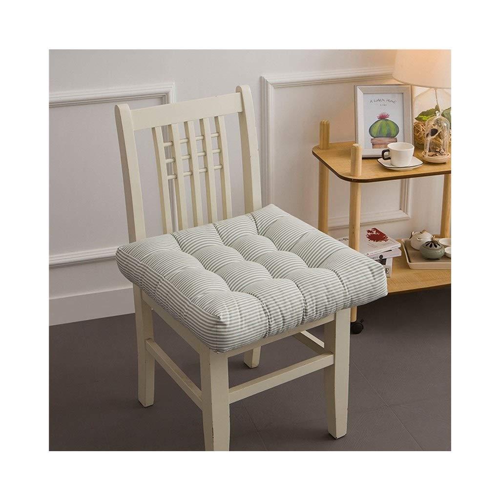Cushion, Padded Cushion Chair Cushion Office Cushion Student Cushion Classroom Stool Butt Pad Four Seasons Breathable Square (color : Green, Size : 40cmx40cmx10cm)