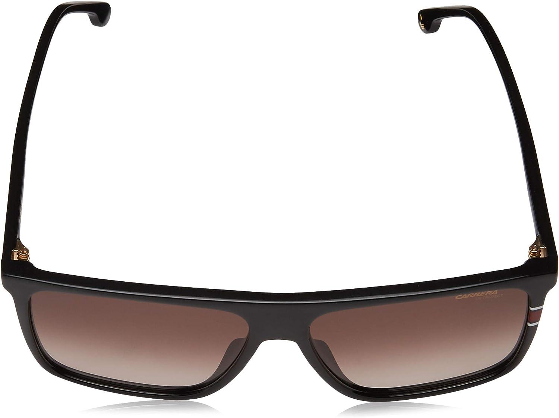 58MM Carrera Mens 0807 Black//Brown Gradient Lens Rectangular Mens Sunglasses
