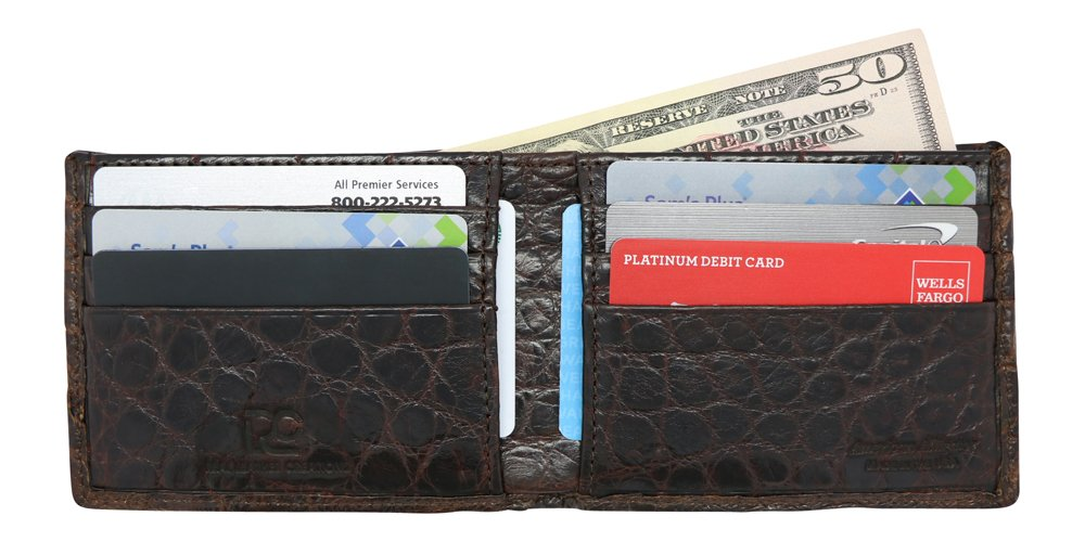 Brown Genuine Alligator Millennium Bifold Wallet – Alligator Inside and Out RARE - Factory Direct - Gift Box - Slim Billfold - Black Brown Cognac – Made in USA by Real Leather Creations FBA298 by Real Leather Creations (Image #2)