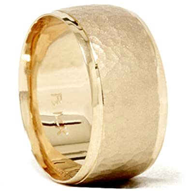 10mm wide gold wedding bands