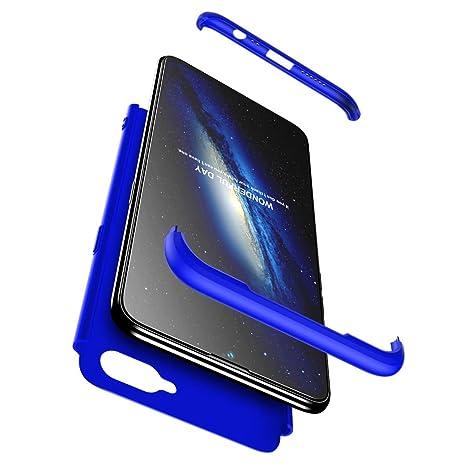 hyujia Compatible Oneplus 5 Funda(2018) Carcasa 360° Ultra Fina Protectora cojín+Vidrio Templado Pantalla Protector,3 in 1 PC Hard Caja Caso Skin Case ...