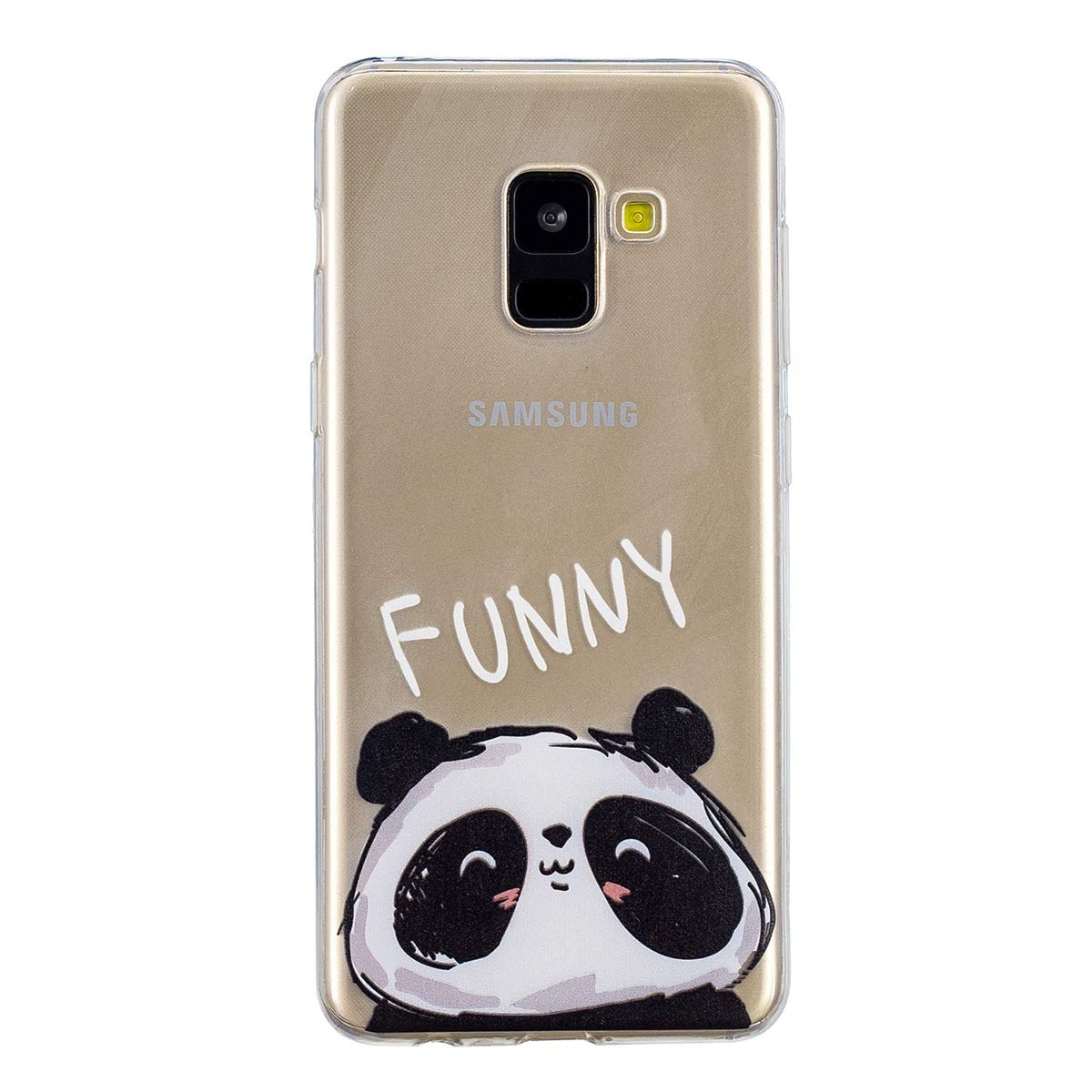 Galaxy A8 2018 Case, Yoodi Ultra Slim Lovely Cover for Samsung Galaxy A8 2018 5.6 inch Flexible TPU Shock Absorption Bumper Drop Protection Shell - Comic YDA366626