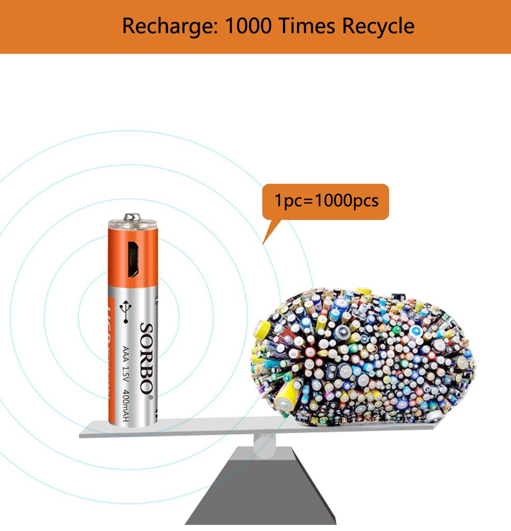 Rechargeable Batteries Aaa Usb Port Lithium 15v Remote C Wire Color Diagram Typical Single Line Unit 4 Pack 1 Hour Quick Charged To Powerbank Socket