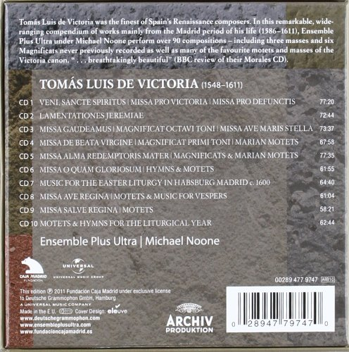 Victoria: Sacred Works by Archiv Produktion (DG Sub-Label)