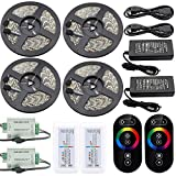 IWISHLIGHT 20M 65.6 Ft 4 Rolls Waterproof IP67 RGB Color Changing Flexible Decoration LED Strip for Outdoors,Gardens,Homes,Christmas Season,Party,Bars
