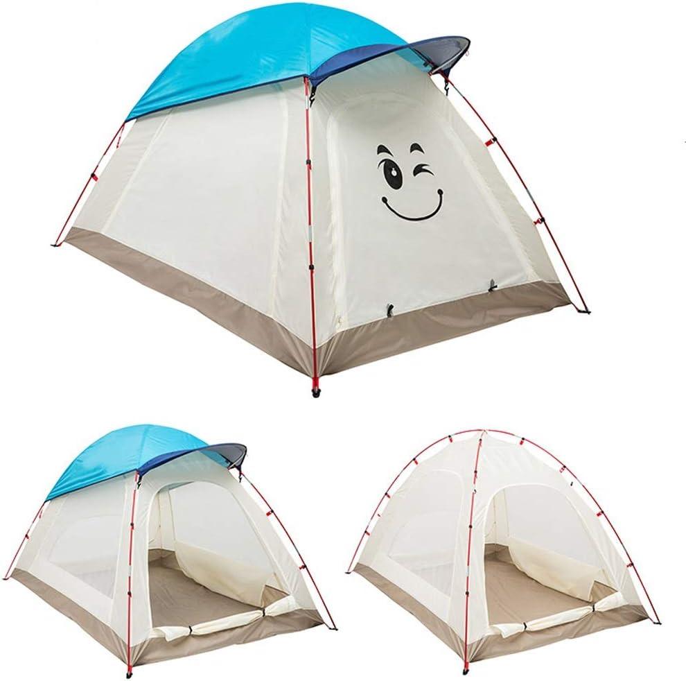GZW001 Tienda de campaña para niños Camping al Aire Libre a Prueba de Agua Ligero Cúpula de Dibujos Animados Tienda de Verano Tienda para Padres e Hijos, 3 Colores (Color : Red):
