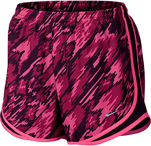 NIKE Women's Dry Tempo Overdrive Printed Running Shorts (Hyper Pink, S)
