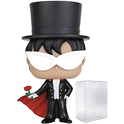 Funko Pop! Anime: Sailor Moon - Tuxedo Mask Vinyl Figure (Bundled with Pop Box Protector CASE): Toys & Games