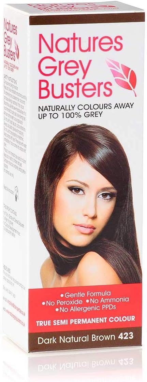 Tinte para el cabello sin parafenilendiamina, color marrón oscuro, sin amoníaco, sin peróxidos, la forma natural y segura de colorear tu pelo canoso. ...