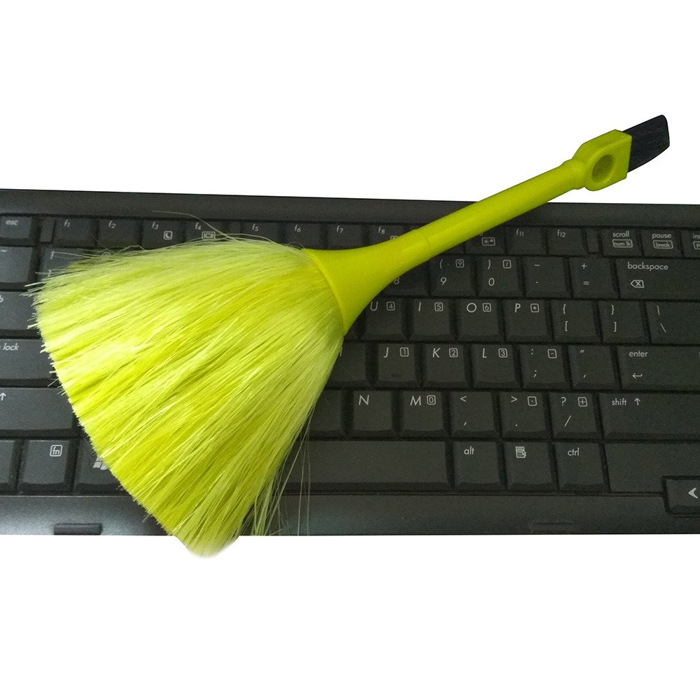 Green Multi-Function Computer Brush Mini Keyboard Vehicle Anti-Static Dust Brush Desktop Cleaning Sweeper