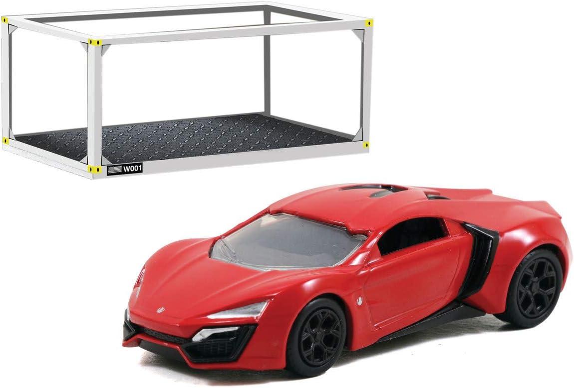 253202006 Jada Toys Fast /& Furious-Kit di Costruzione Lykan Hypersport Scatola Scala 1:55 Build+Collect Colore: Rosso Auto da Collezione cacciavite Incluso