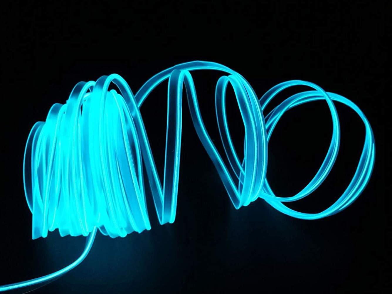 Gelb 6FT USB Neon EL Draht Gl/ühender Elektrolumineszenzdraht f/ür Valentine Christmas Festival Party Licht Dekoration 2M