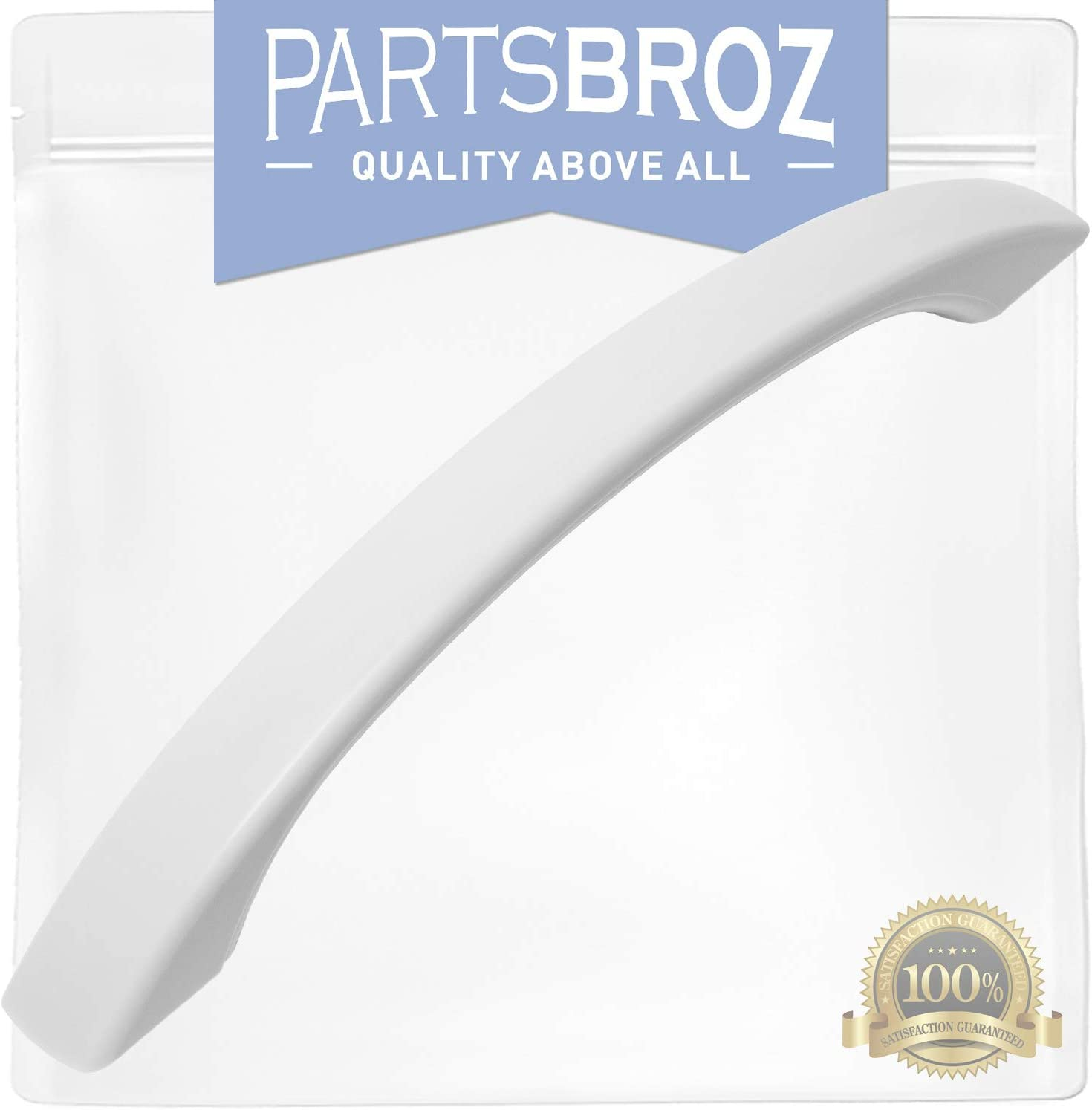 WB15X10023 White Door Handle for GE Microwaves by PartsBroz - Replaces Part Numbers AP2021174, 769529, AH232103, EA232103, PS232103, WB15X10084