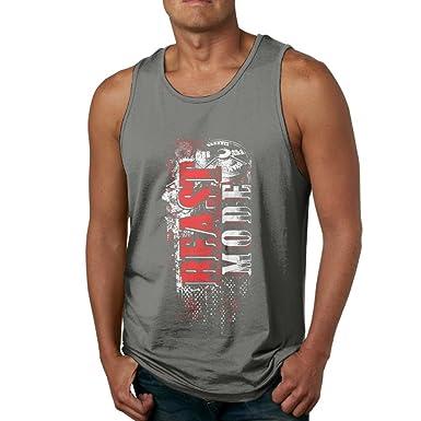 75ee3a9255e55 Dasiney King Men Beast Mode Athletic Jogging DeepHeather Sleeveless Shirt S Tank  Tops