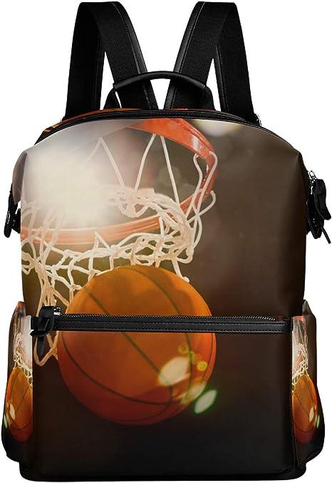 LUPINZ Mochila Escolar de Baloncesto para Llevar a través de