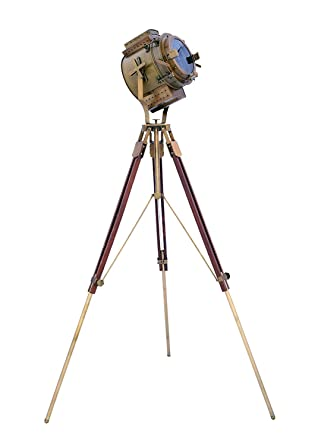 Vintage Marine Tripod Floor Lamp Search Light Cinema Studio Floor