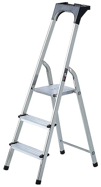 Frisch Brennenstuhl 1401250 Haushaltsleiter Aluminium mit Arbeitsschale 5  DO56