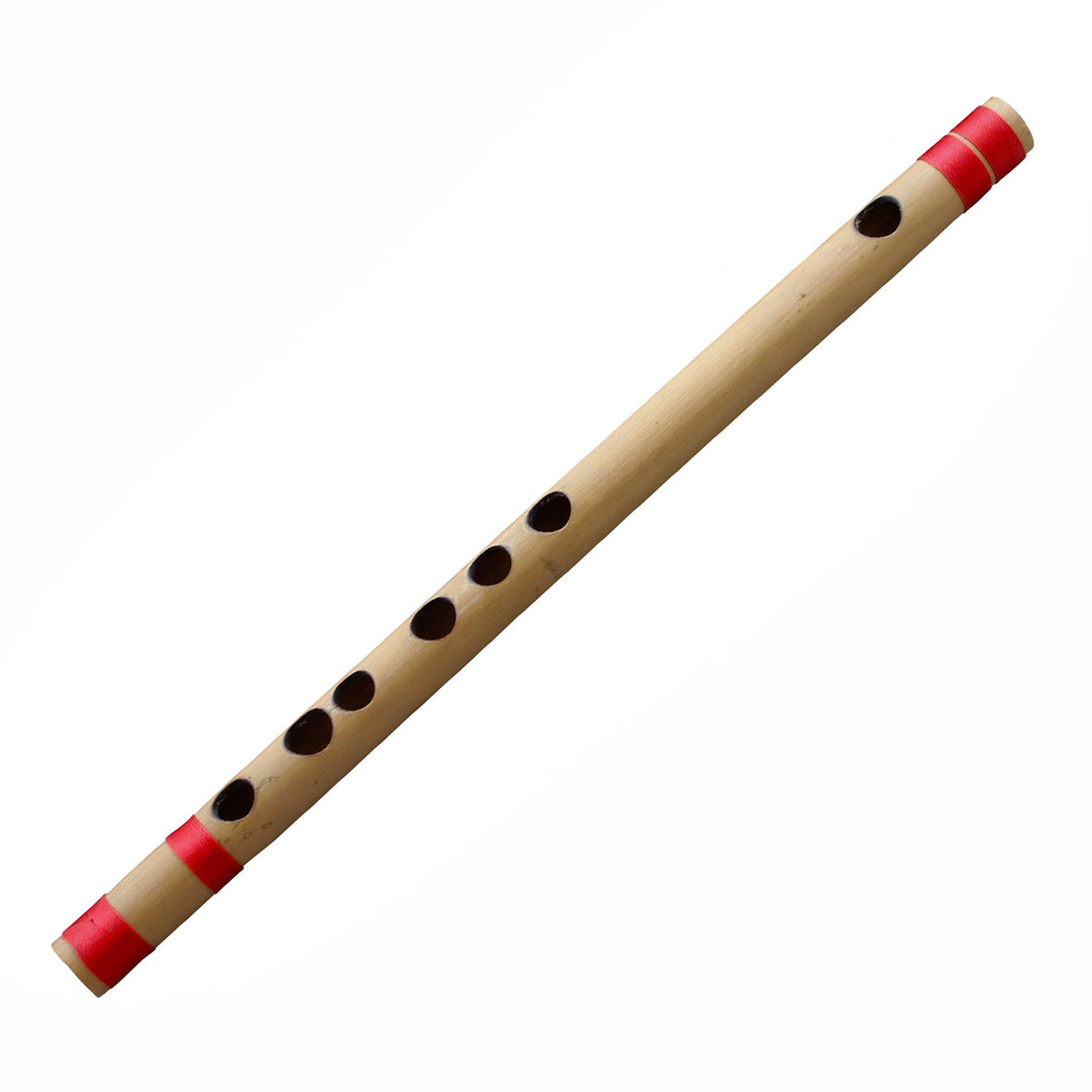 Bamboo Flute Indian Bansuri, B Key, 10 Inches Long - Professional Transverse Woodwind Musical Instrument