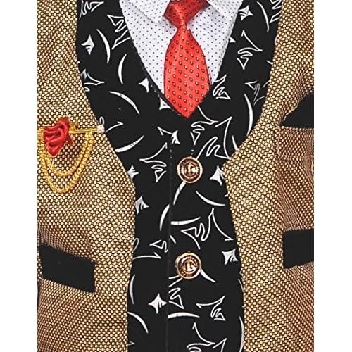 61u2EQ2bmJL. SS500  - ahhaaaa Boy's Blended Waistcoat, Shirt and Trouser Set