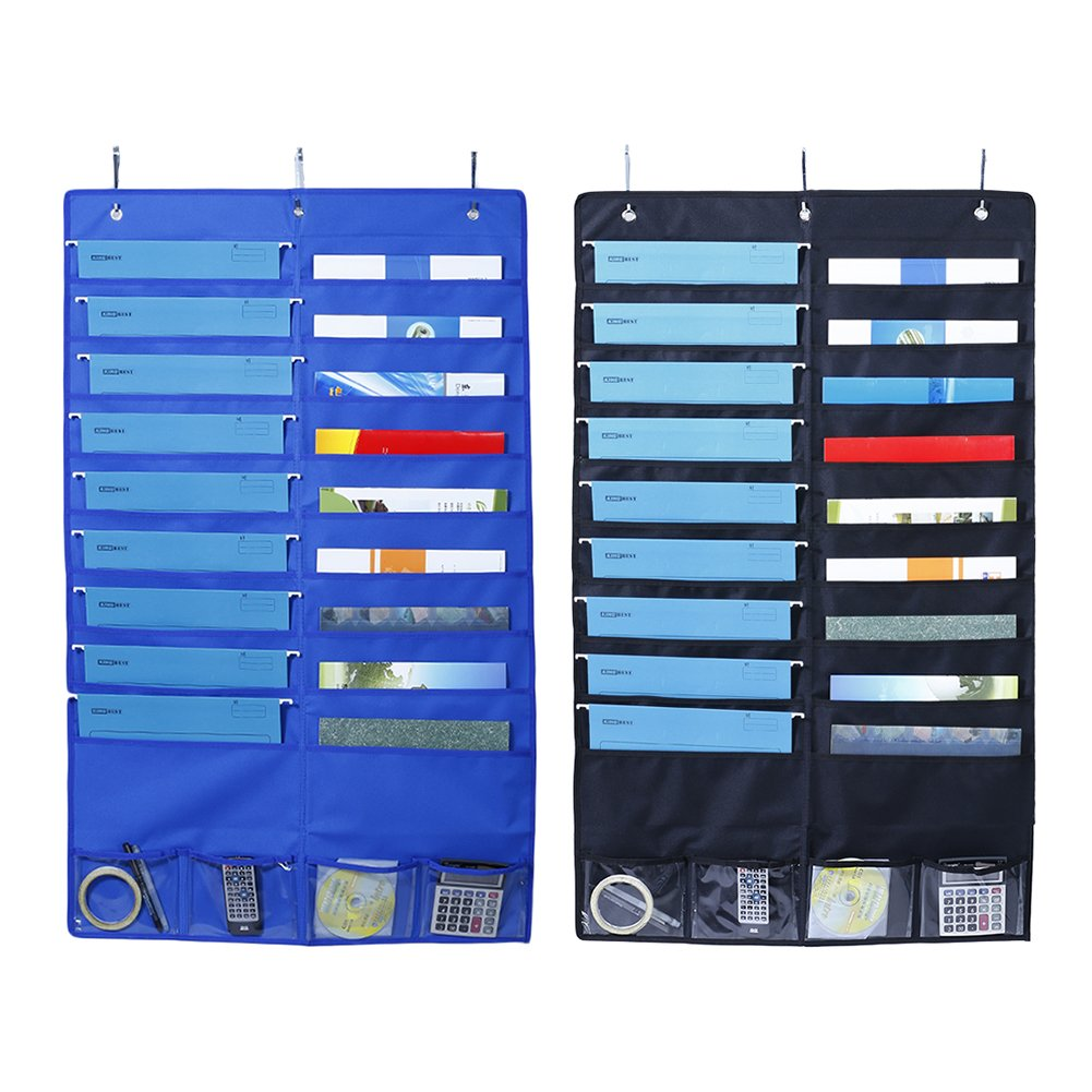 Molie Storage Pocket Oxford Cloth Hanging File Organizer Hanging Document Storage Bag File Organizer for School,Classroom,Home or Office