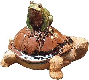 LIUSHI Ceramic Turtle Statue, Turtle Garden Decoration Outdoor Animal Statue Frog Ornament Creative Novelty Garden Ornamen