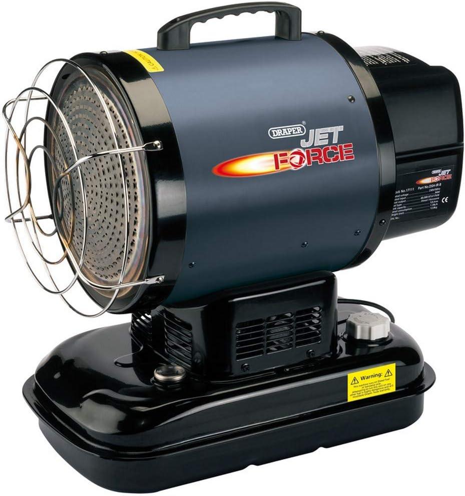 Draper dsh-ir-b 60000 BTU Jet Force infrarrojos Diesel/queroseno calentador de ambiente, azul, 17 kW: Amazon.es: Bricolaje y herramientas