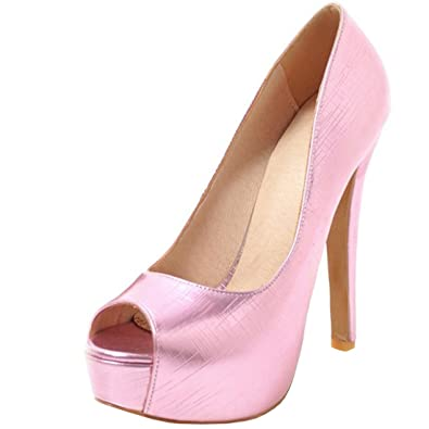 Atyche Damen Extreme High Heels Pumps mit Stiletto und Plateau Elegant Party Schuhe yxp0XId
