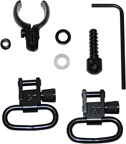 Wood Screws Fits Some Lever-Action /& Tube-Mag Rifles /& Carbines GrovTec Swivel Set Black Oxide 1 Loops