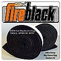 FireBlack34 for Big Green Egg SMALL MEDIUM & MINI 3/4 x 1/8 Black Hi Temp BBQ smoker Gasket 15 ft