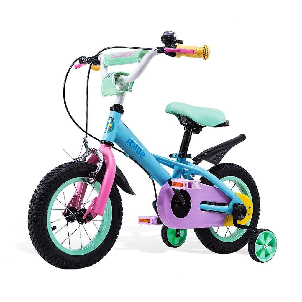 キッズバイク色とりどりの学生用自転車12,14,16インチバイク3-8歳の男の子と女の子のバイク最高の贈り物自転車子供のおもちゃ (Color : Blue, Size : 16inches) 16inches Blue B07NYR2QSS