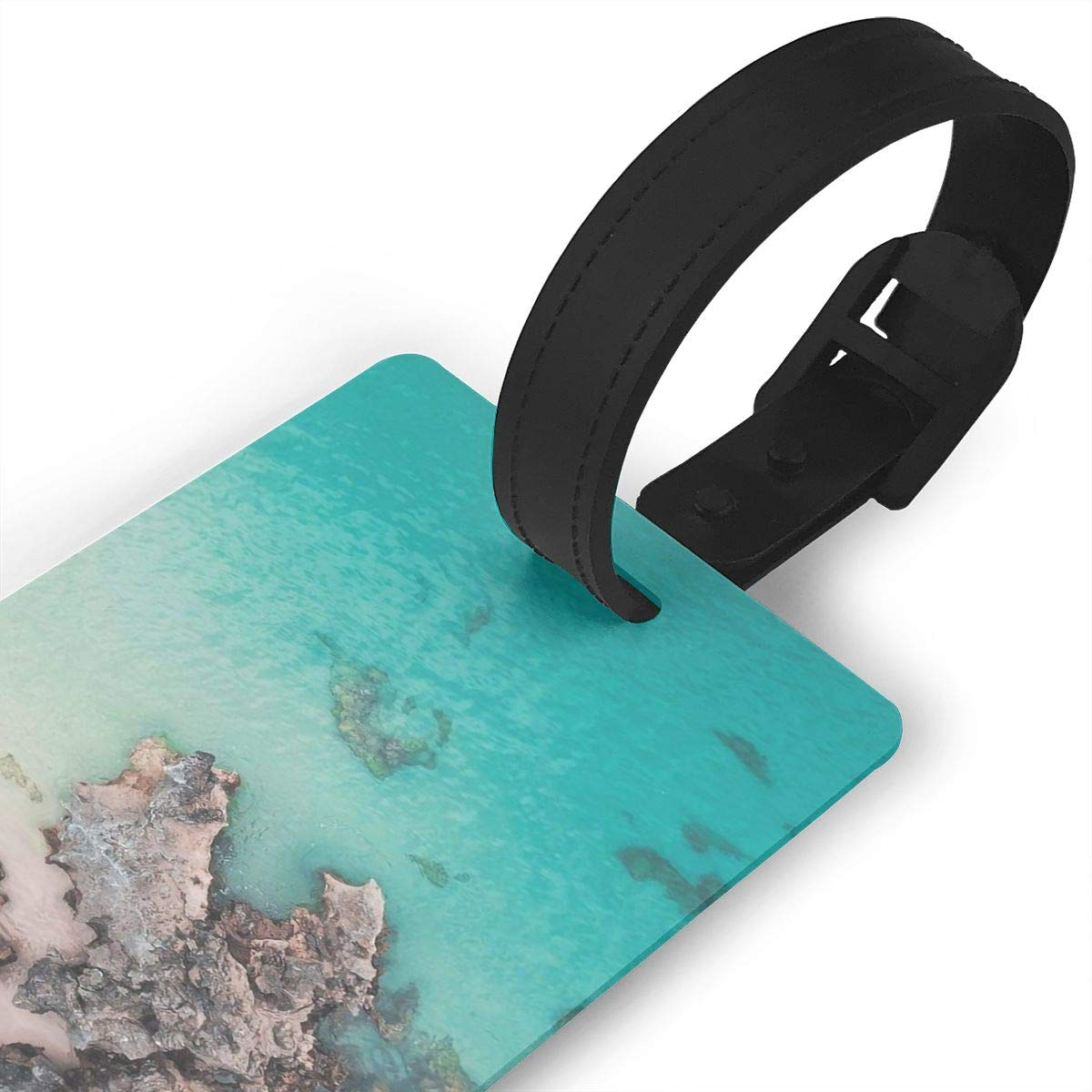 2 Pack Luggage Tags Beaches Baggage Tag For Travel Bag Suitcase Accessories