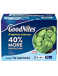 GoodNites Bedtime Underwear for Boys (Size 4 - 8 Boys - 74 ct.) BOBEBE Online Baby Store From New York to Miami and Los Angeles