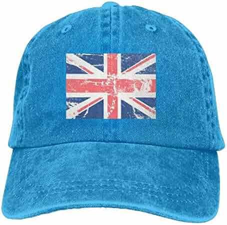5d1adb41d20 Wesbe Vintage British UK Flag Unisex Adjustable Baseball Caps Denim Hats  Cowboy Sport Outdoor
