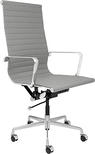 SOHO Tall Back Ribbed Management Chair Grey
