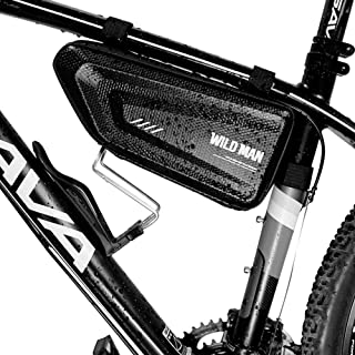 Sac De Vélo Vélo Tube Avant Tube Triangle Cadre Poche Coquille Dure Sac De Selle De Vélo Résistant à l'eau pour Vélo De Montagne, 1.5 L