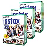 Photo : Fujifilm Instax Wide Instant 60 Film for Fuji Instax Wide 210 200 100 300 Instant Photo Camera