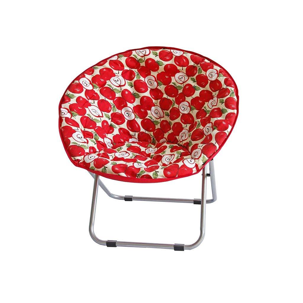 QZ HOME Stühle, Klappstuhl Sonnenliege Büro Mittagspause Stuhl Haushalt Tragbar Liegestuhl 3 Farben (Farbe : ROT)