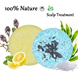 100% Natural Shampoo Bar for Hair 2 Pieces Solid Shampoo Soap for Treated Dry Damaged Hair Vegetarian Plant Essence…