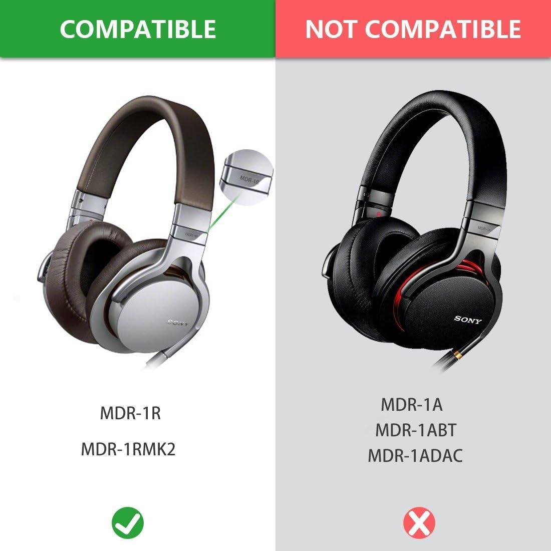 Coffee//Brown Geekria Earpad for Sony MDR-1R MDR-1RMK2 Headphone Ear Pad//Ear Cushion//Ear Cups//Ear Cover//Earpads Repair Parts