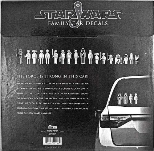 Amazoncom Star Wars Family Car Decals Automotive - Star wars car decals
