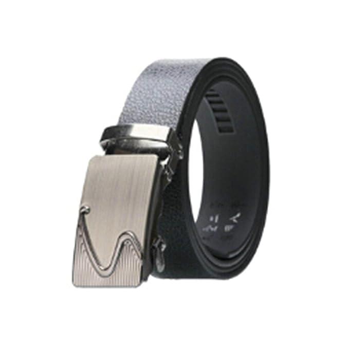 ROMQUEEN Cinturón de Piel para Hombre Cinturón Unisex Traje ...