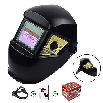 Máscara del casco para soldador Casco de soldadura con energía solar Campana profesional de oscurecimiento automático