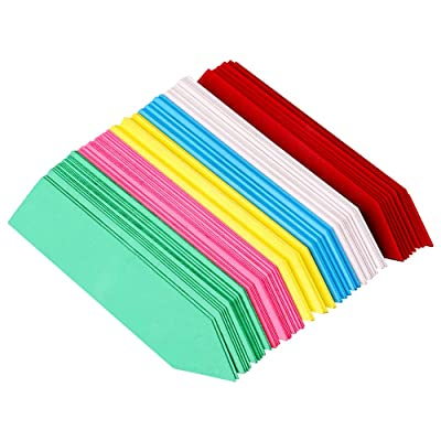 KINGLAKE 120 Pcs 4 Inch Plastic Plant Nursery Garden Labels Pot Marker Colored Garden Stake Tags: Garden & Outdoor