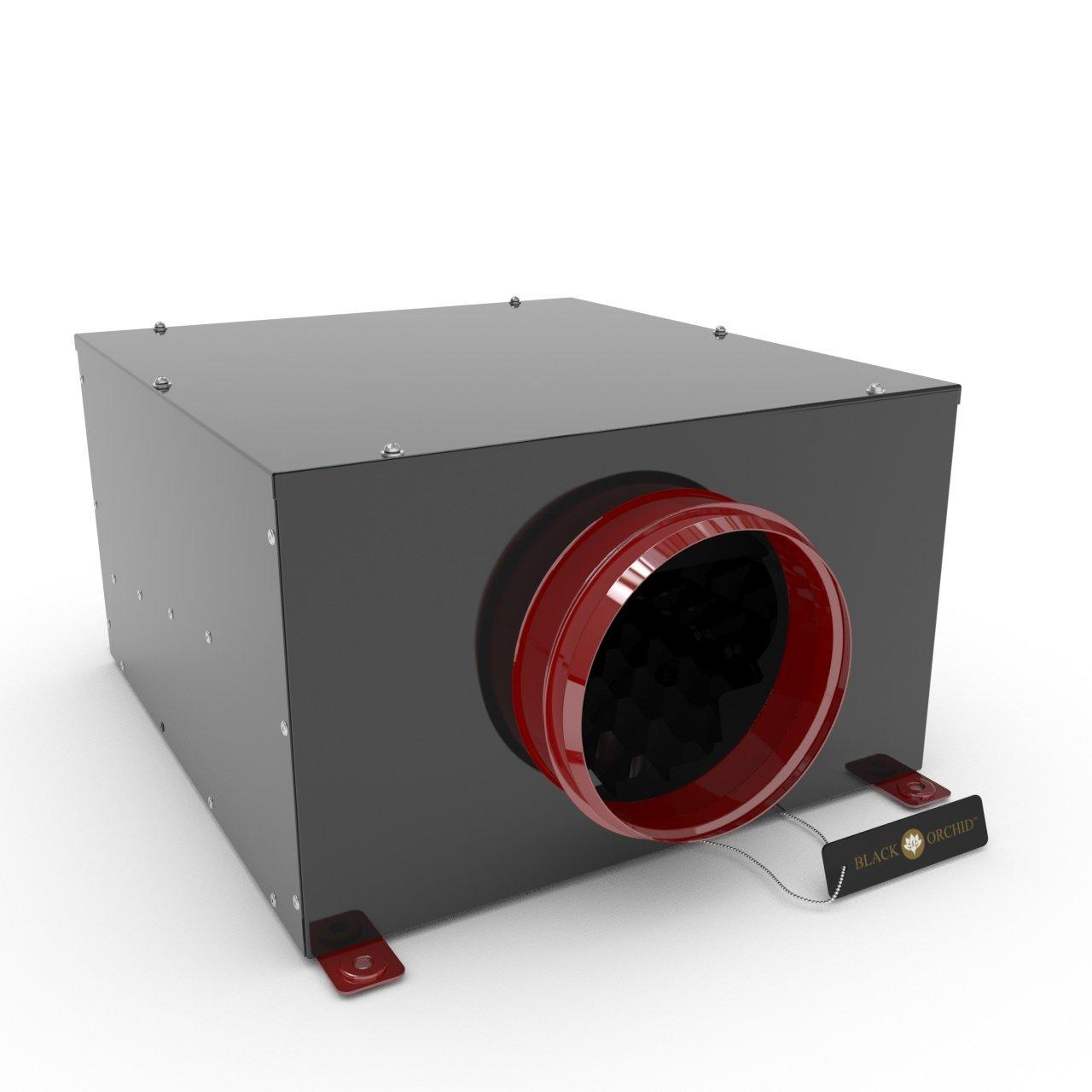 Black Orchid Silenta-Box in-Line Extractor Fan 4' Dia c/w UK Plug & Lead