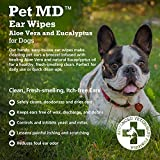 Pet MD - Dog Ear Cleaner Wipes - Otic Cleanser