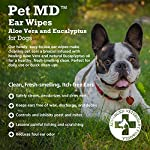 Pet MD - Dog Ear Cleaner Wipes - Otic Cleanser for Dogs to Stop Itching, Yeast and Mites with Aloe and Eucalyptus - 100 Count 9