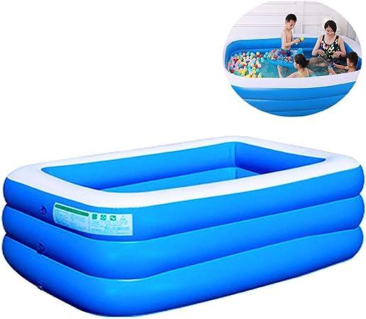 WAZS Perfect Spa Bar Piscina, Bañera de hidromasaje inflable, bomba de circulación para piscinas de tierra, piscina inflable infantil, soporte para piscina (210 x 140 x 61 cm): Amazon.es: Hogar