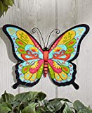 The Lakeside Collection Colorful Metal Garden Wall Hanging- Butterfly